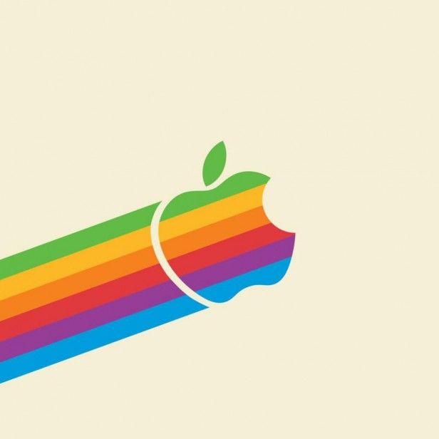 Retro Apple Logo - iPad Wallpaper | Stunning Logo Designs