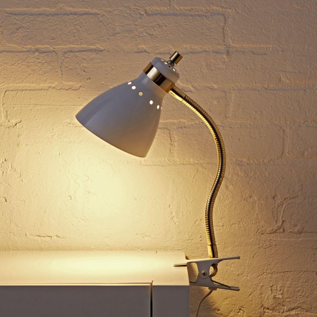 Good Grip White Clip Lamp The Land Of Nod Clip Lamp Lamp Kids Floor Lamp