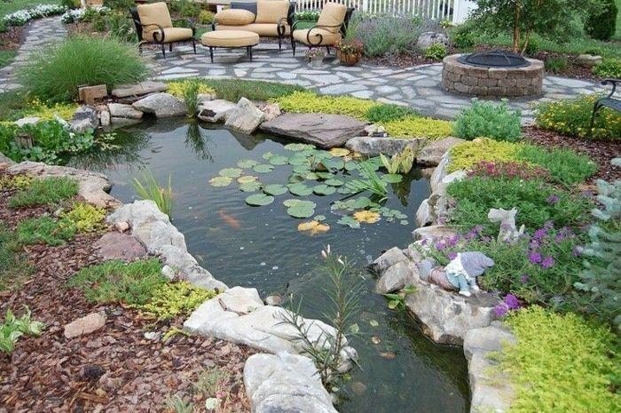 Teich bepflanzen mehr als 70 ideen gartenteich teich garten und gartengestaltung - Gartenideen teich ...