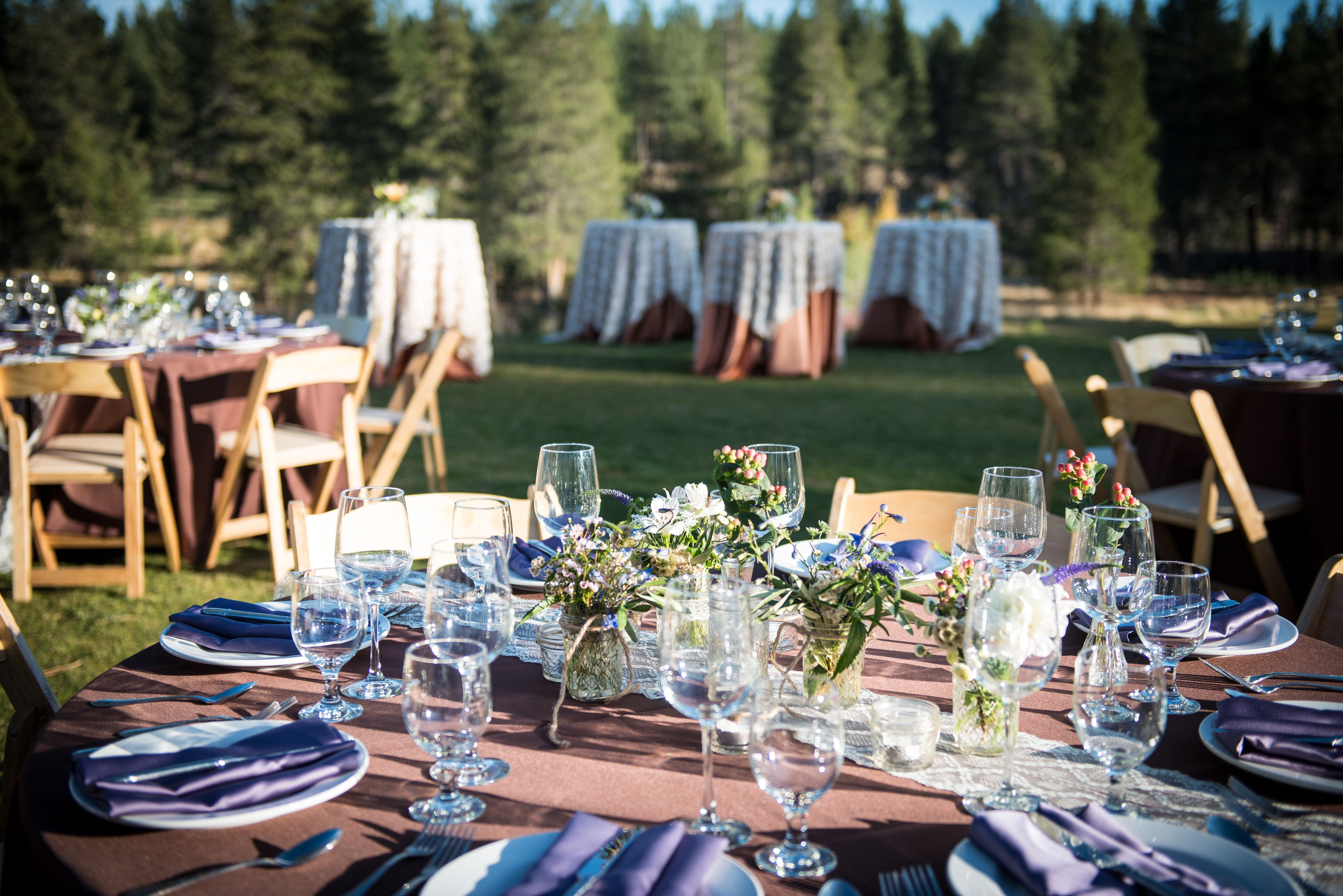 Wedding Reception And Cocktail Set Up At PJs Grays Crossing VENUE Lake Tahoe