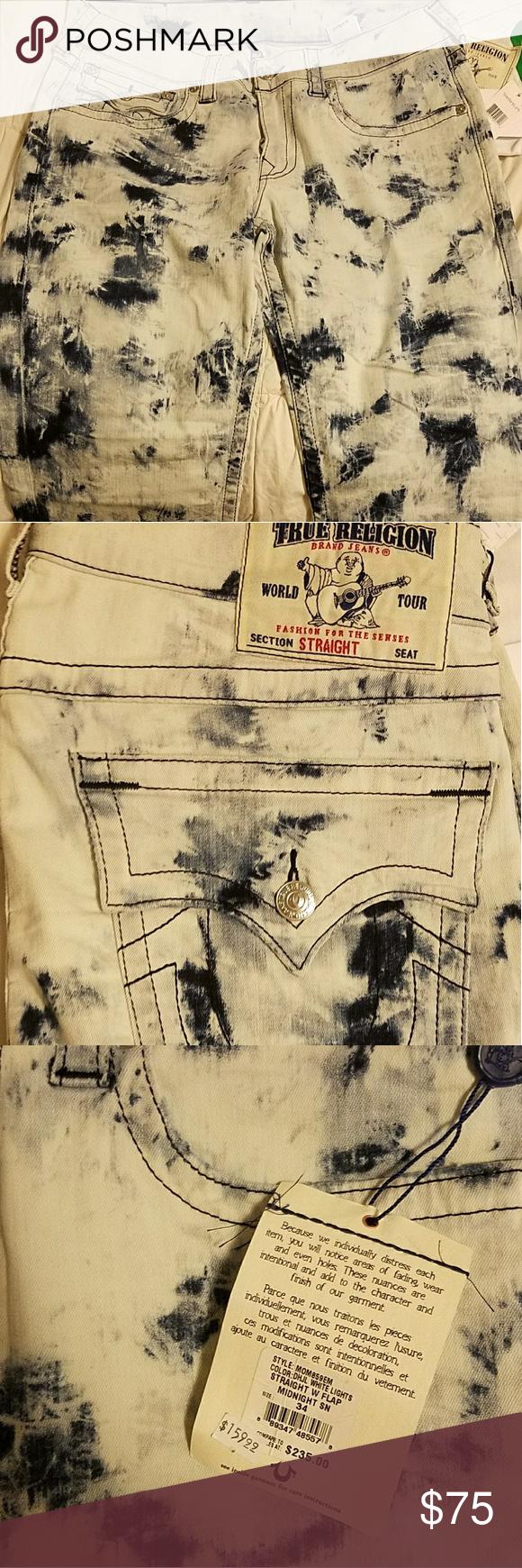 Brand new men's true religion jeans size 34 New with tags full length men's true religion denim True Religion Jeans Relaxed