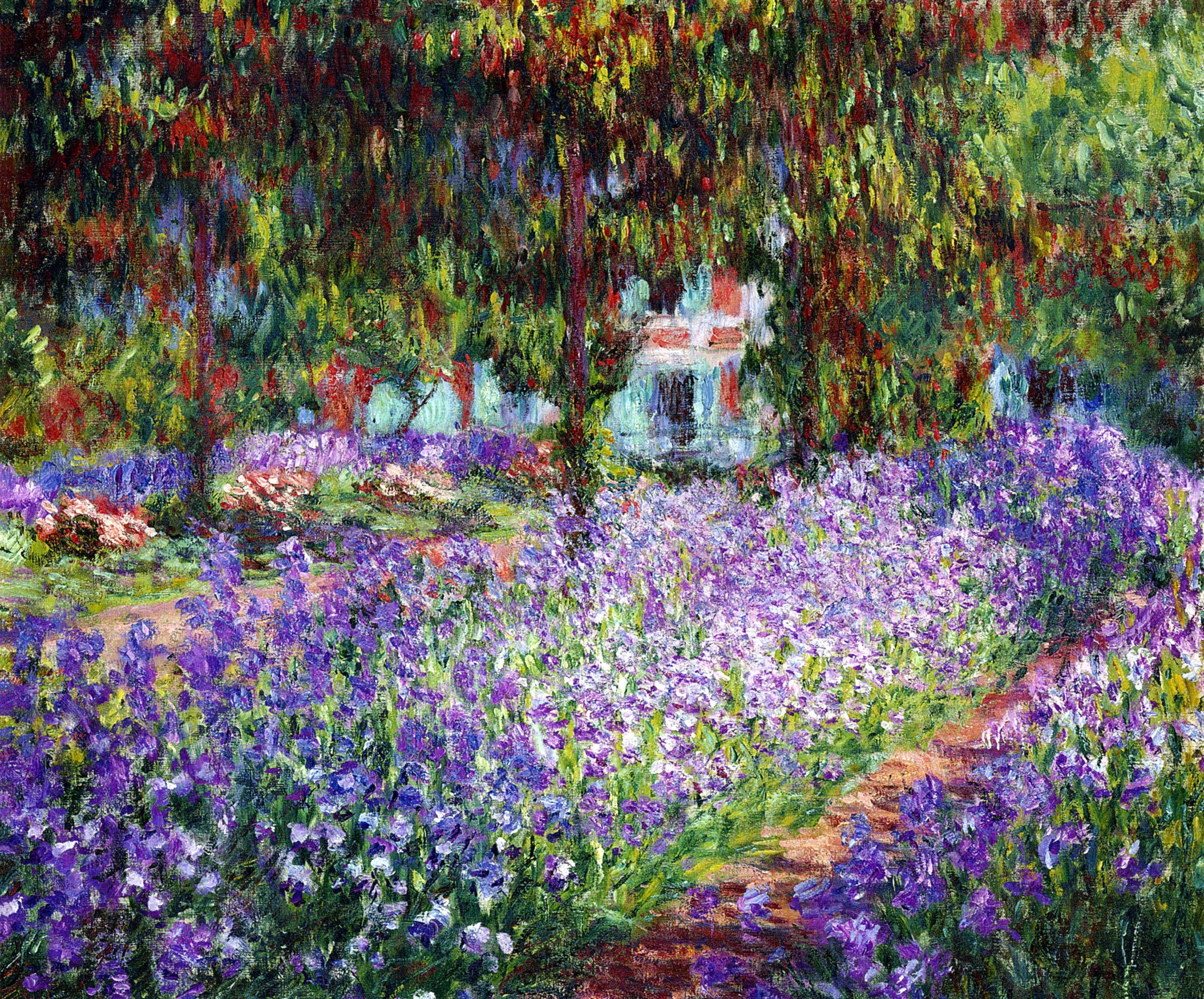 Cm 1900 the artists garden at giverny or irises in