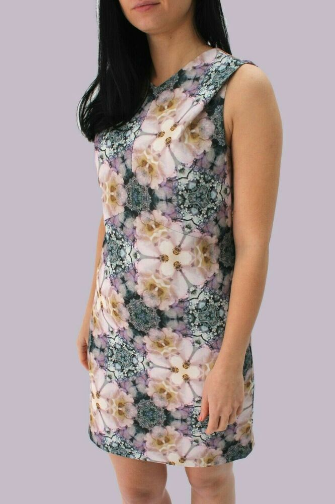 Ted Baker VYRA Floral Botanic Graphic Tunic Shift Cocktail Party Dress 8 to 10