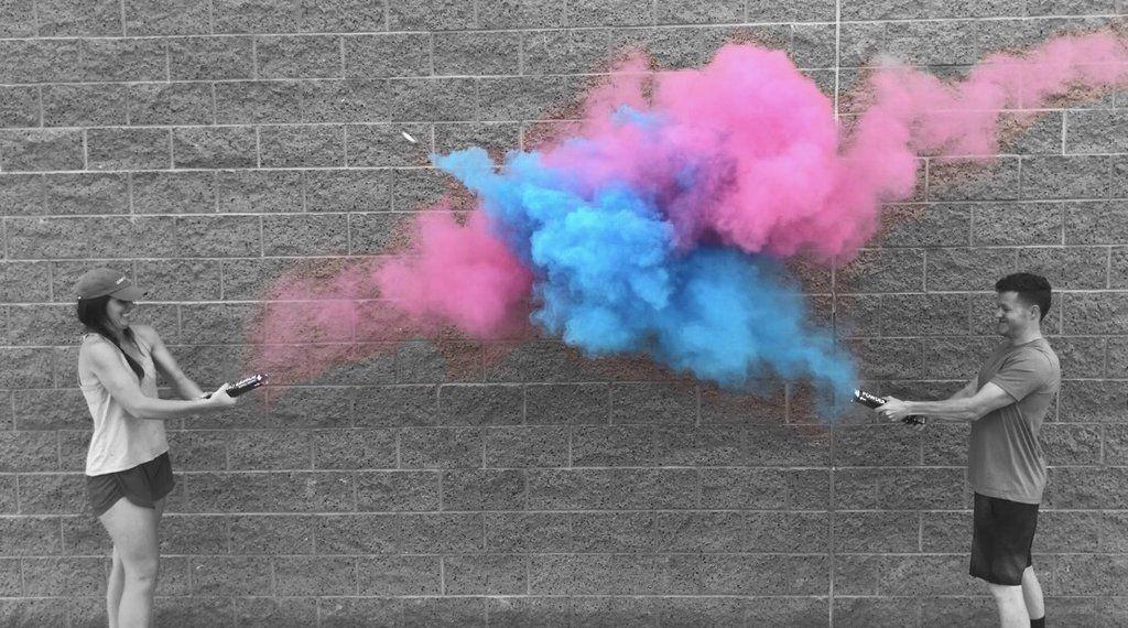 Gender Reveal Powder Cannon Confetti Cannon Gender Reveal Gender Reveal Supplies Gender Reveal Smoke