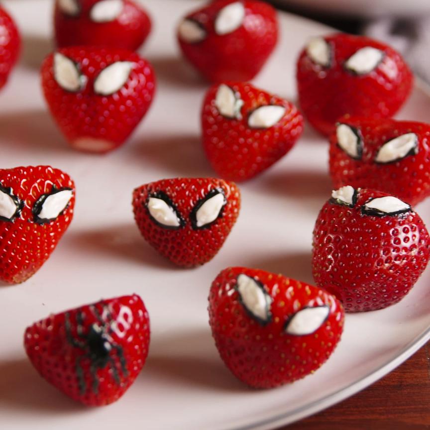 Spiderman-Inspired Strawberries