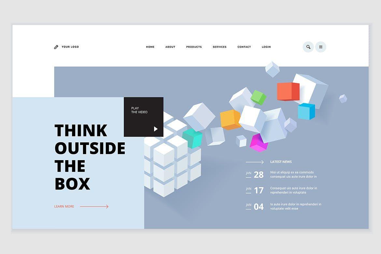 Creative Website Template Design By Puresolution On Envato Elements Website Template Design Website Template Template Design