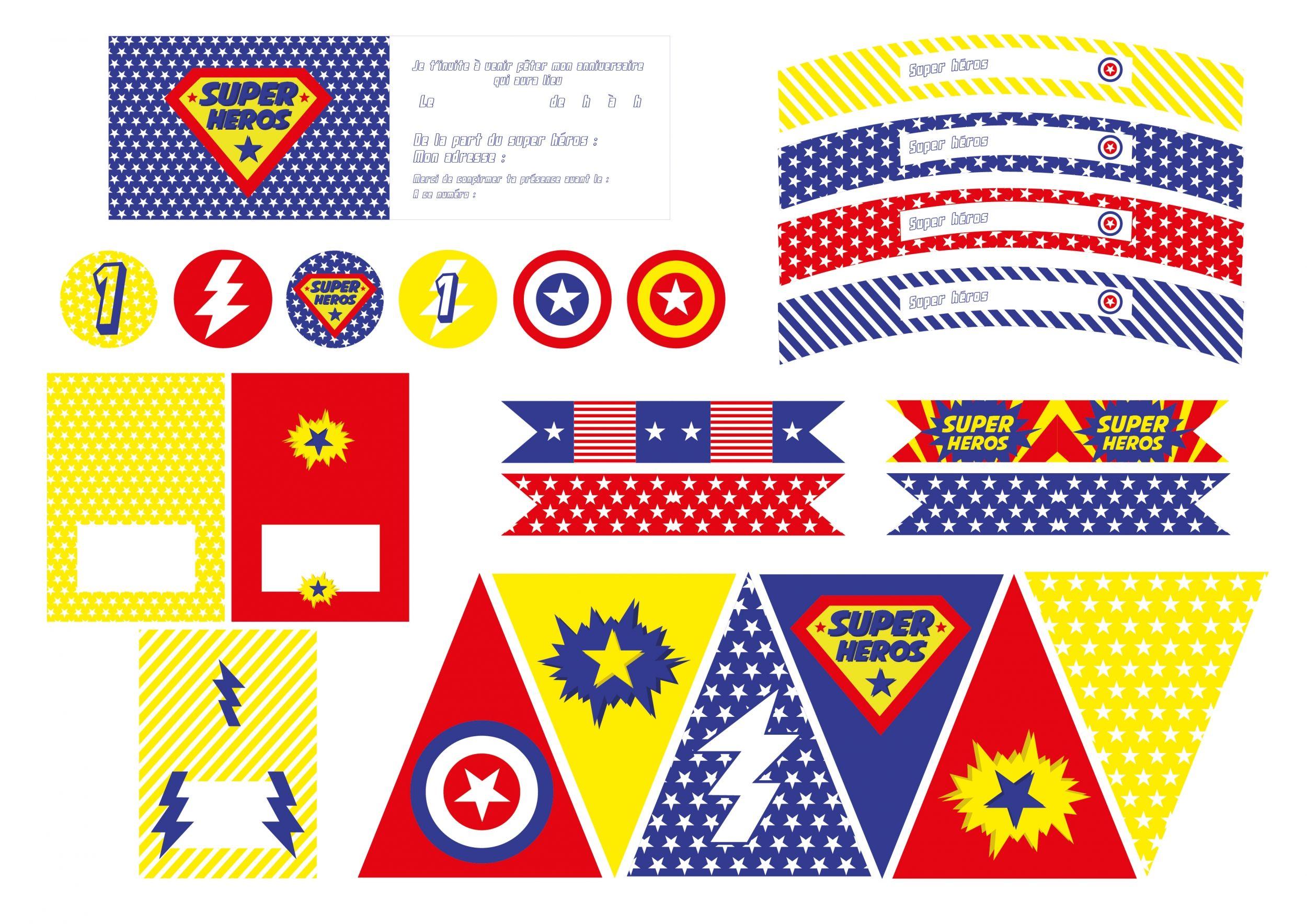 Frais Carte Anniversaire à Imprimer Super Heros