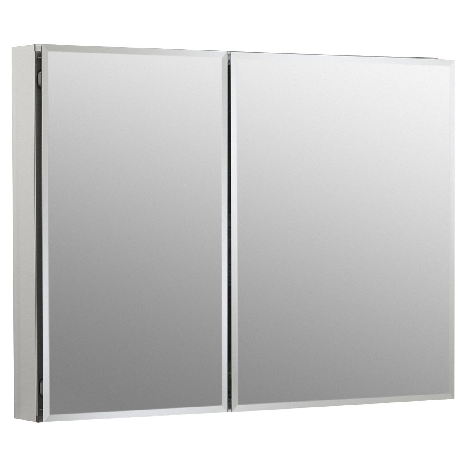 Kohler Double Door Aluminum Cabinet With Mirrored Doors