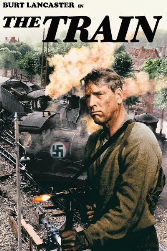 Train  (In 1944, a German colonel loads a train with French art treasures to send to Germany. The Resistance must stop it without damaging the cargo.)
