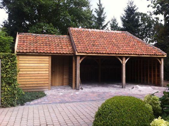 Afbeeldingsresultaat voor carport eik plat dak tuin pinterest