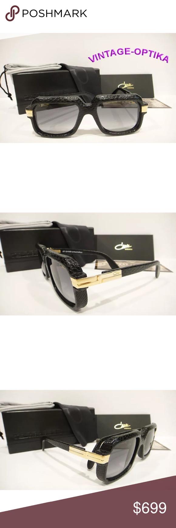 a1c66fff23f6 CAZAL 607 3 Sunglasses SNAKESKIN Black New These are 100% Genuine ...