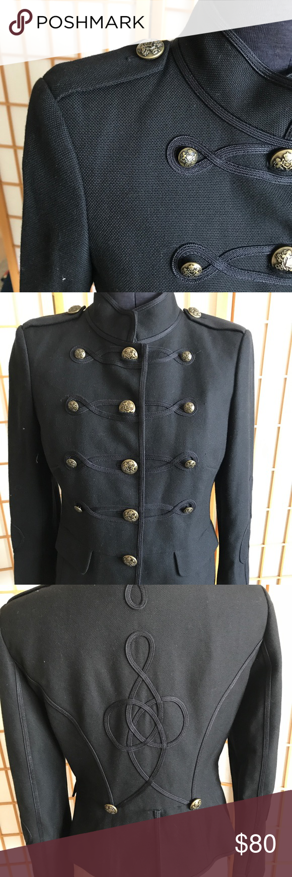 Banana Republic Marching Band Leader Jacket BR hit it dead