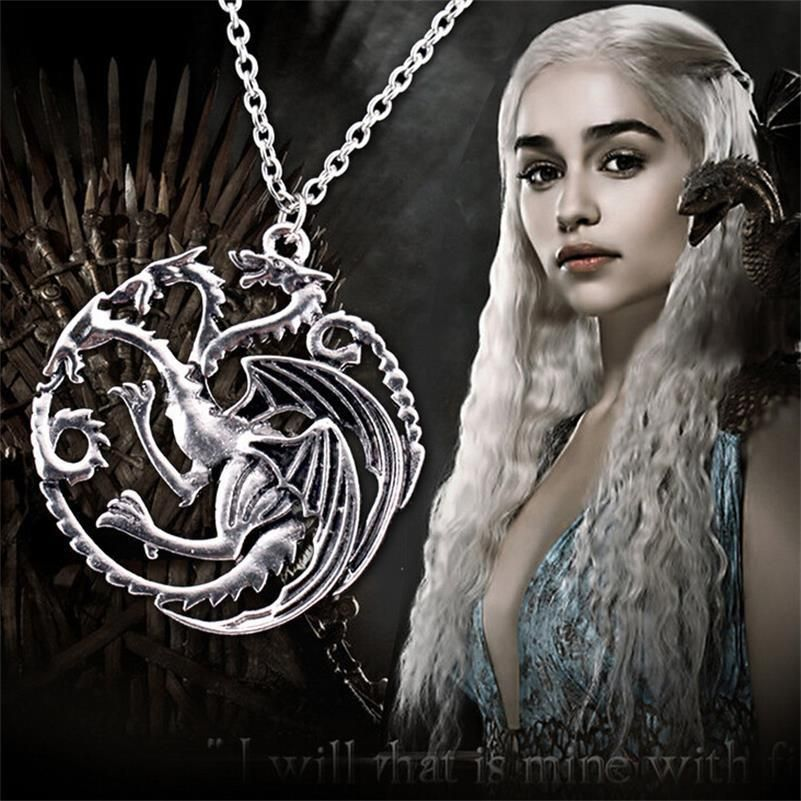 Antique silver game of #thrones daenerys targaryen dragon charm #pendant #necklac,  View more on the LINK: http://www.zeppy.io/product/gb/2/282207044154/