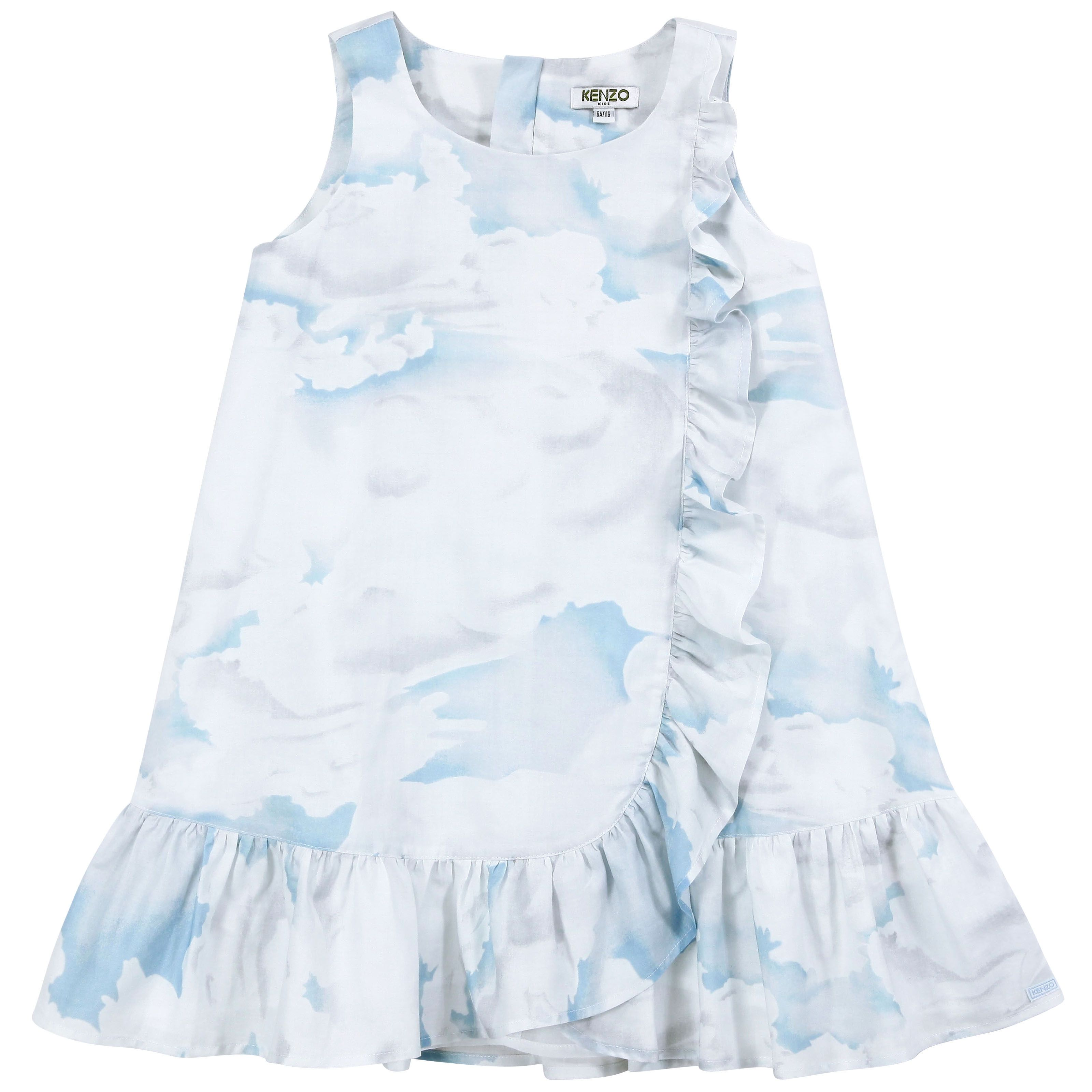 Mini me clouds printed dress from Kenzo Kids 96 00 €