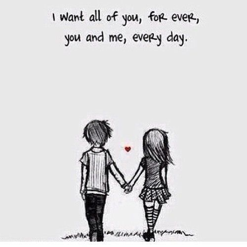 I want all of you, forever