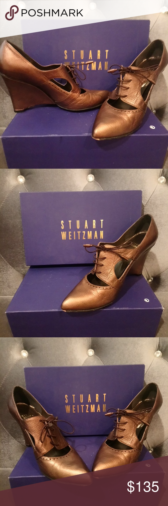 Stuart Weitzman Shoes | Stuart Weitzman | Color: Brown | Size: 7.5 #shoewedges