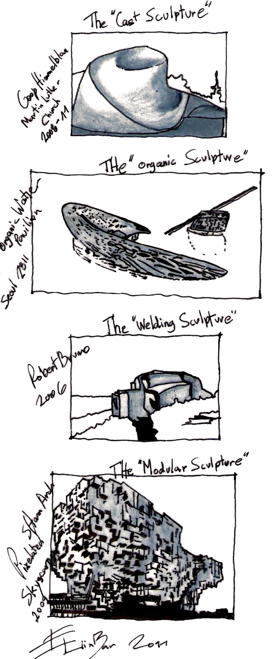 Deconstructivist Architecture Sketches