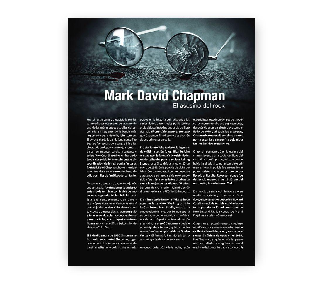 Mark David Chapman... el asesino del rock