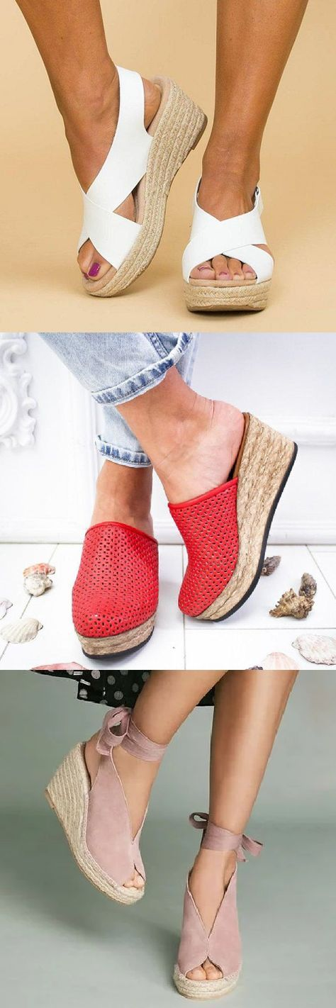 Shop Today Up To 70 Off Comfy Wedge Sandals For You Buy 2 Get 8 Off Sizes From Us 5 To Us12 100 Styles For Opt Summer Fashion Shoes Sandals Comfy Wedges