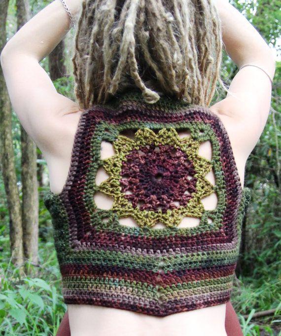 Freeform Mandala Crochet Hippie Pixie Forest Nymph by Wyldeskye, $125.00