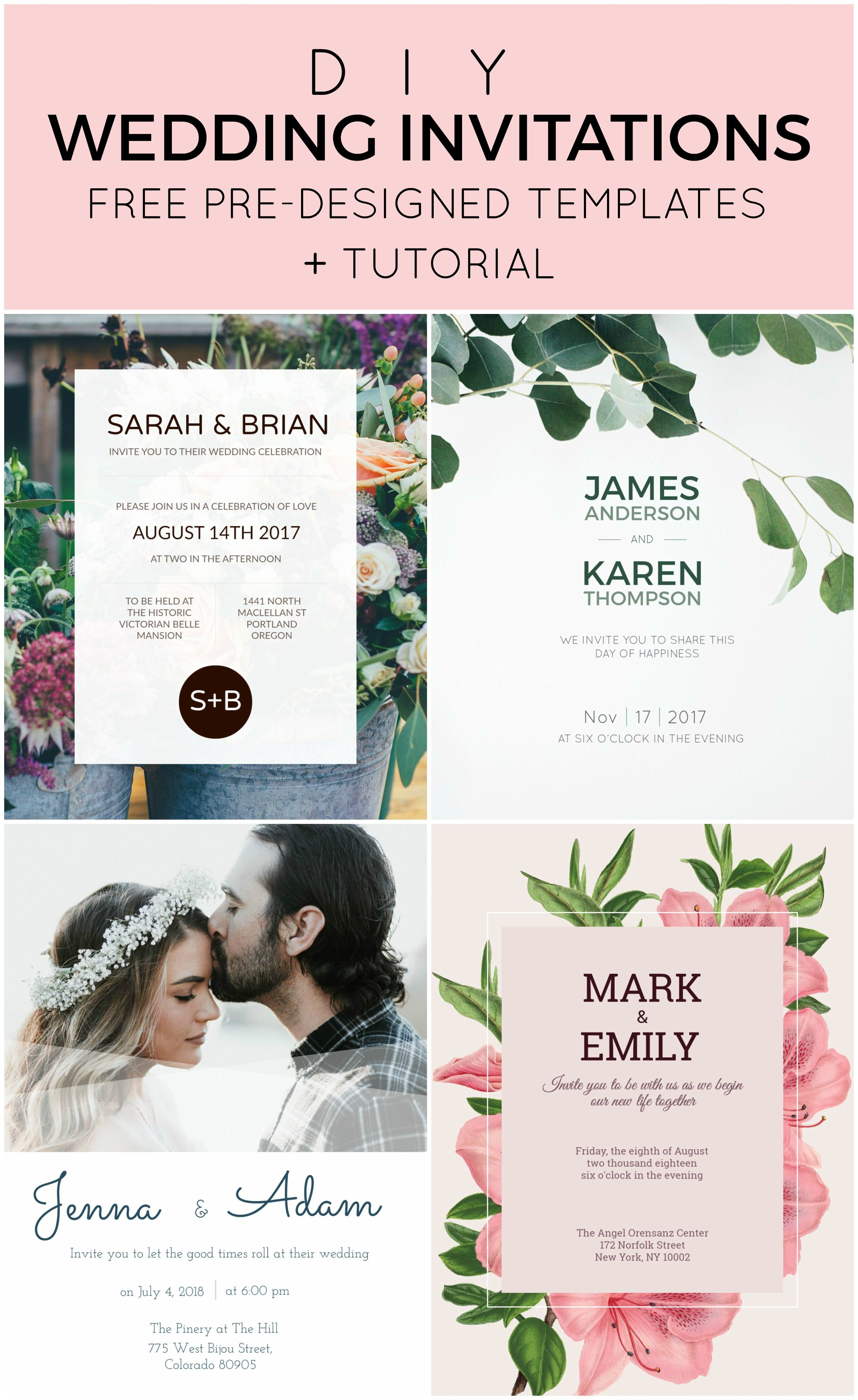Save With These DIY Wedding Invitation Templates Theyre Pre - Pre wedding invitation templates