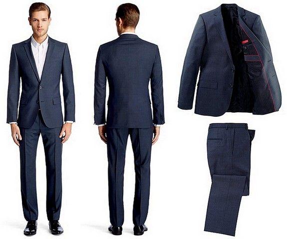 Costume bleu hugo boss looks pinterest costume mari for Robe de mariage hugo boss