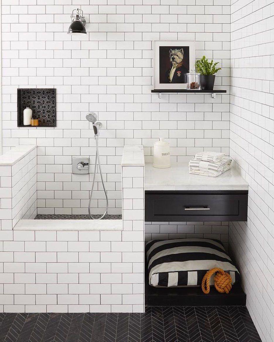 🐾This is cool 🐾 @tongueandgroovenc #Dog #DogWashingStation #HomeInspiration #Pet #mansbestfriend #Bathroom