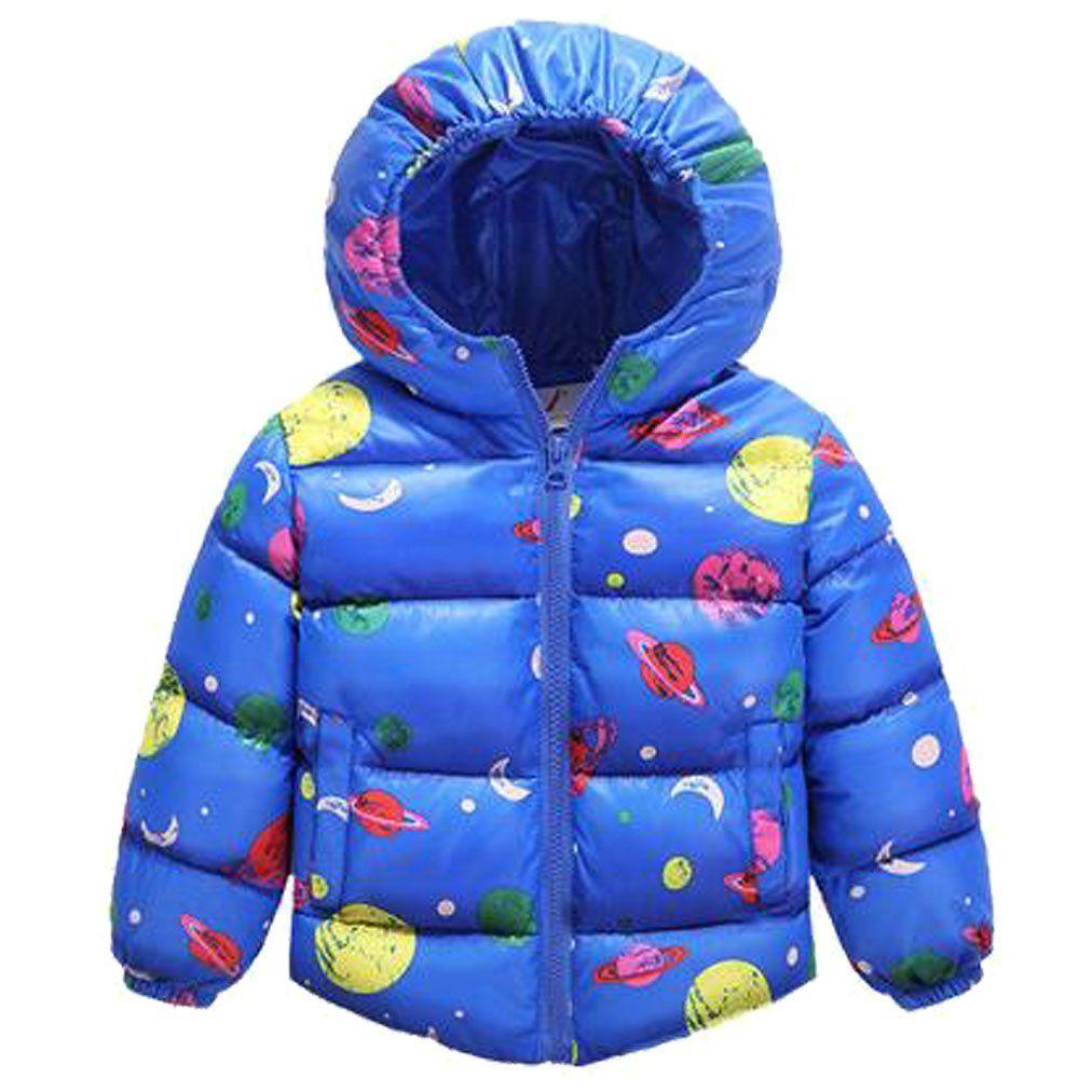 8969db98983e5e LUKYCILD kids Girl Boy Hooded Down Jacket Winter Warm Coat Outwear.  Material Cotton blend