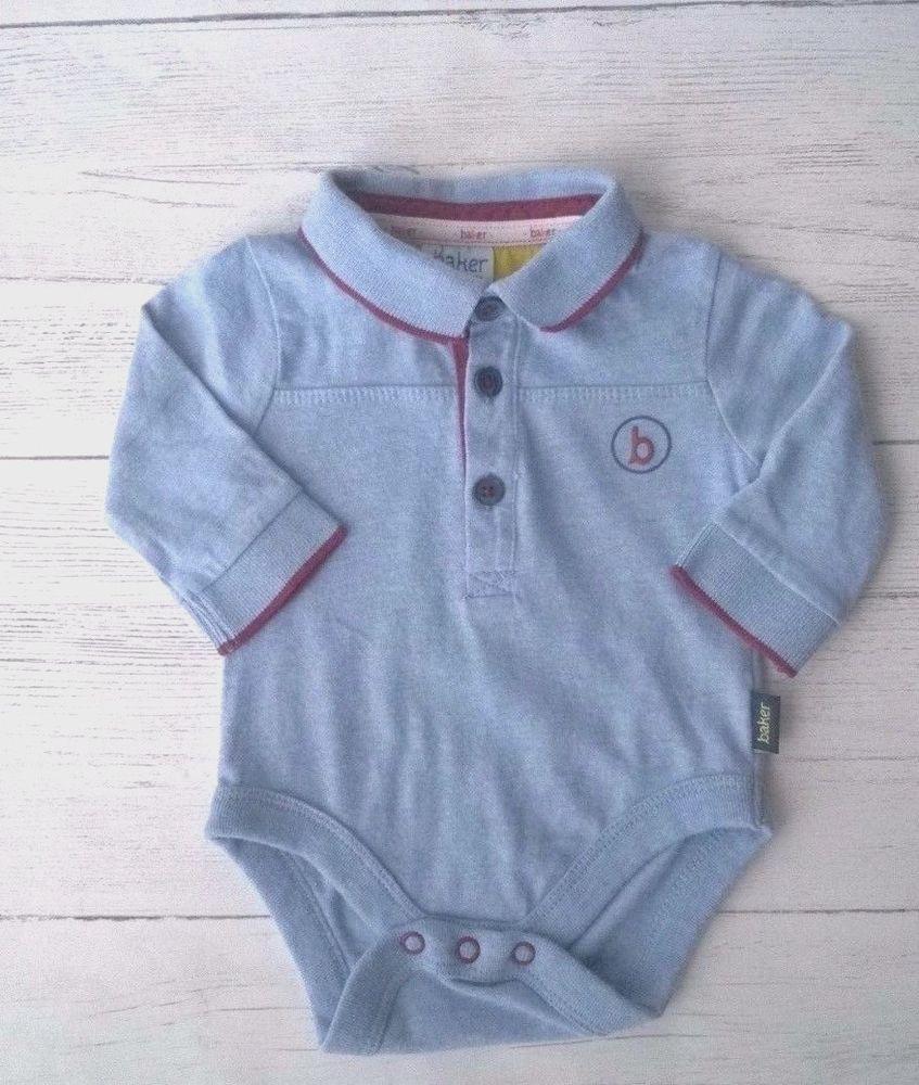 365089581a Baby Boys Ted Baker Long Sleeve Vest Top bodysuit Newborn  TedBaker ...