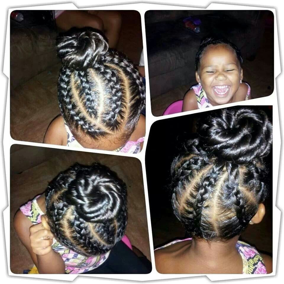 Black Braided Bun Hairstyles Braided Bun Kids Hair Pinterest Rekler Ve Rg 1 4 Topuzlar