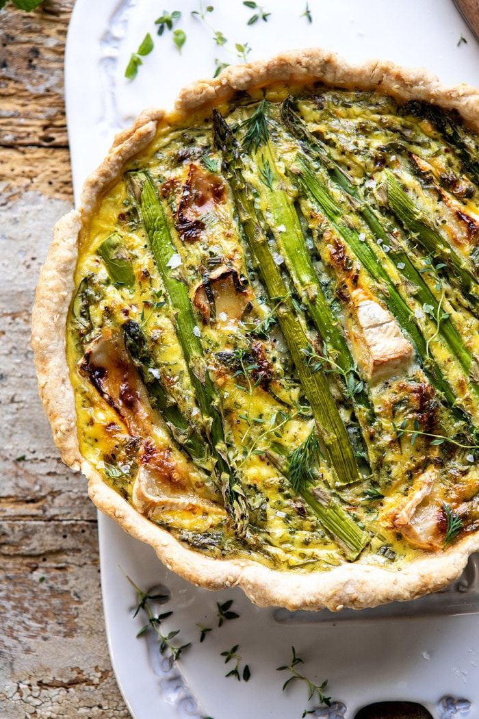 Asparagus And Brie Quiche