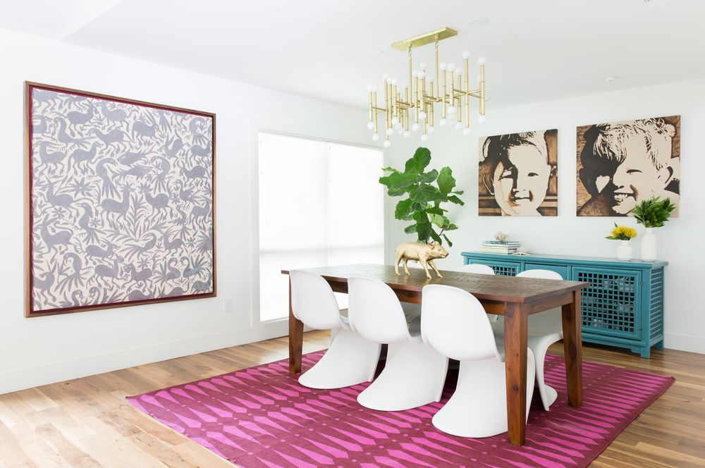PALM SPRINGS MEETS AUSTIN COOL DINING ROOM