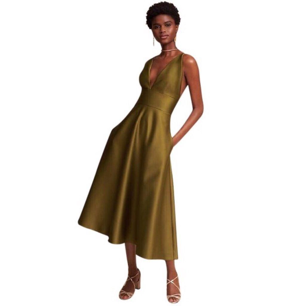 db47c1e07f7 Nwot Anthropologie Bhldn Shelby Olive Midi Dress