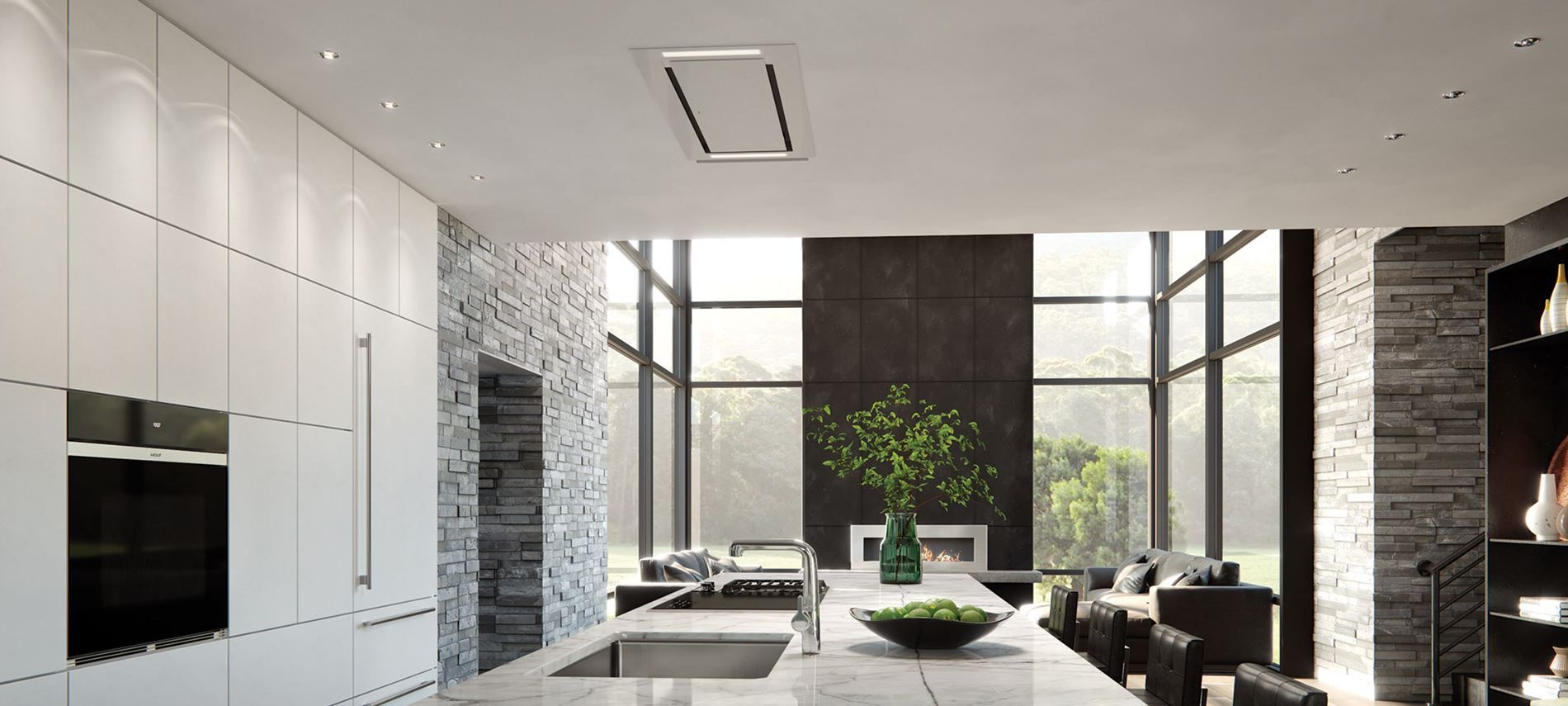48 Ceiling Mounted Ventilation Vc48w Wolf Appliances Ceiling Mount Range Hood Range Hood Ventilation Design