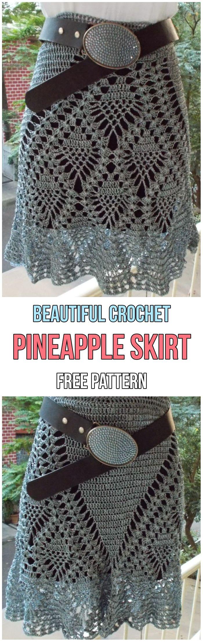5 Exciting Summer Crochet Skirts Free Patterns | Häkeln, Häkelmuster ...