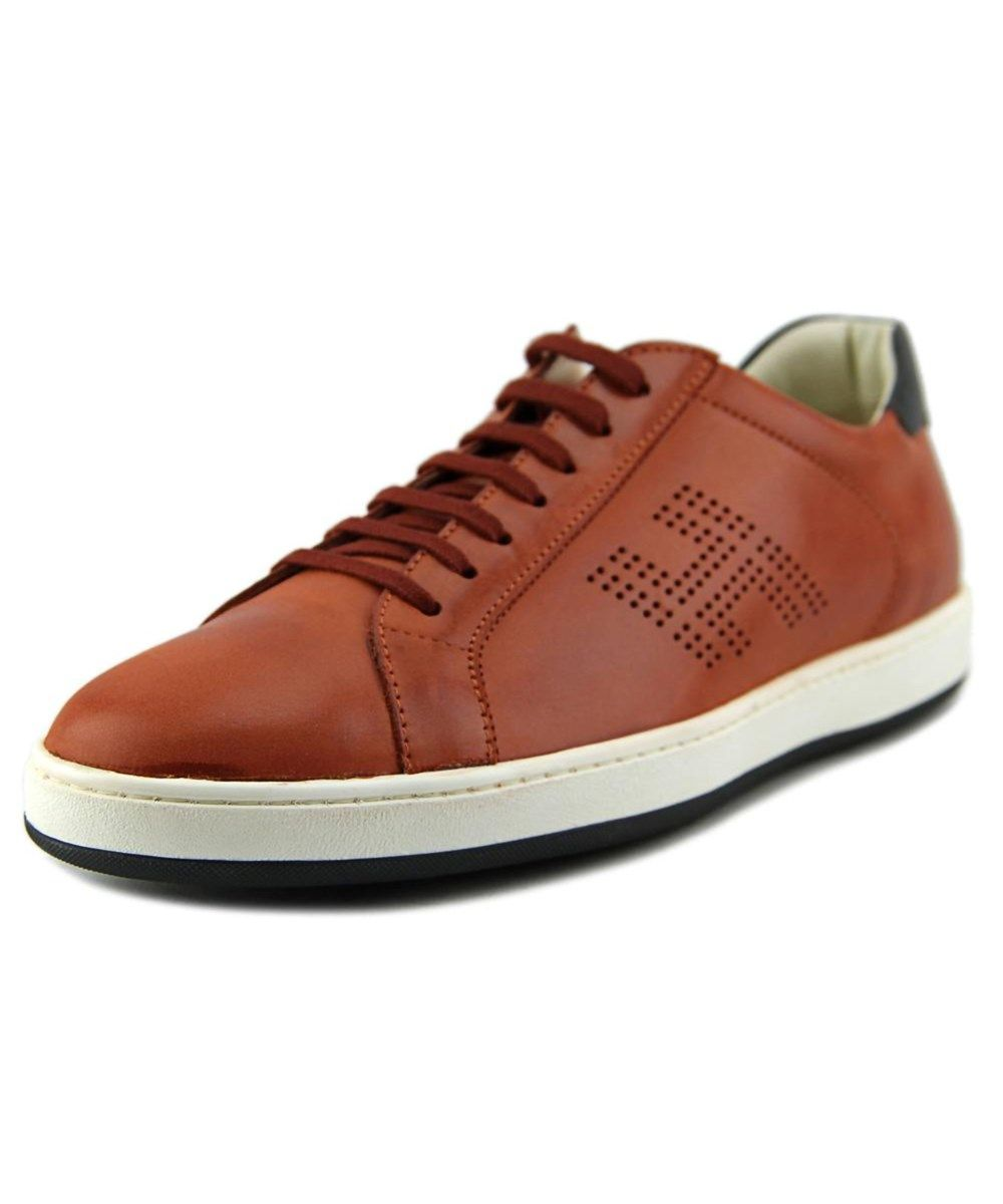 Basso H Forata Men Ew Round Toe Leather Orange Sneakers .  hogan  shoes   sneakers 9d88e51df5f