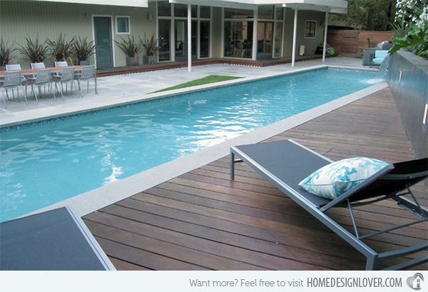 15 Stimulating Modern Contemporary Hardscapes With Wood Home Design Lover Wood Pool Deck Stone Pool Deck Modern Pools