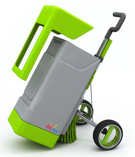 Green Fox Eco Friendly Cleaning Cart Cleaning Cart Cleaning Garbage Bin