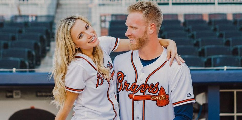 Brittany Foltynewicz Meet Mrs Brittany Foltynewicz She Is The Gorgeous Wife Of Mlb Player Mike Foltynewicz The Talented P Atlanta Braves Braves Sports Goal