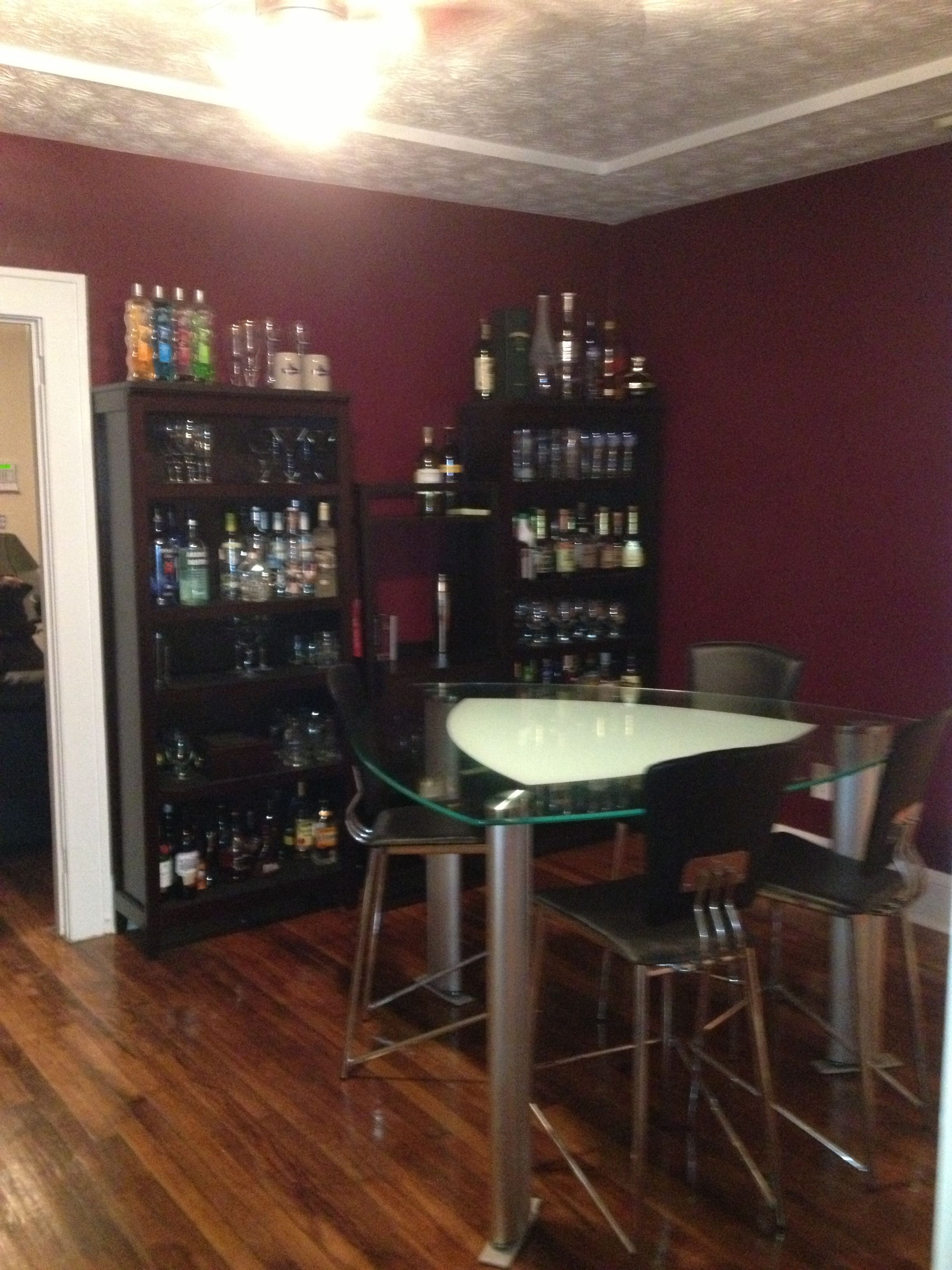 Burgundy and white dining room with liquor cabinet and wet bar burgundy and white dining room with liquor cabinet and wet bar ordered off amazon dzzzfo