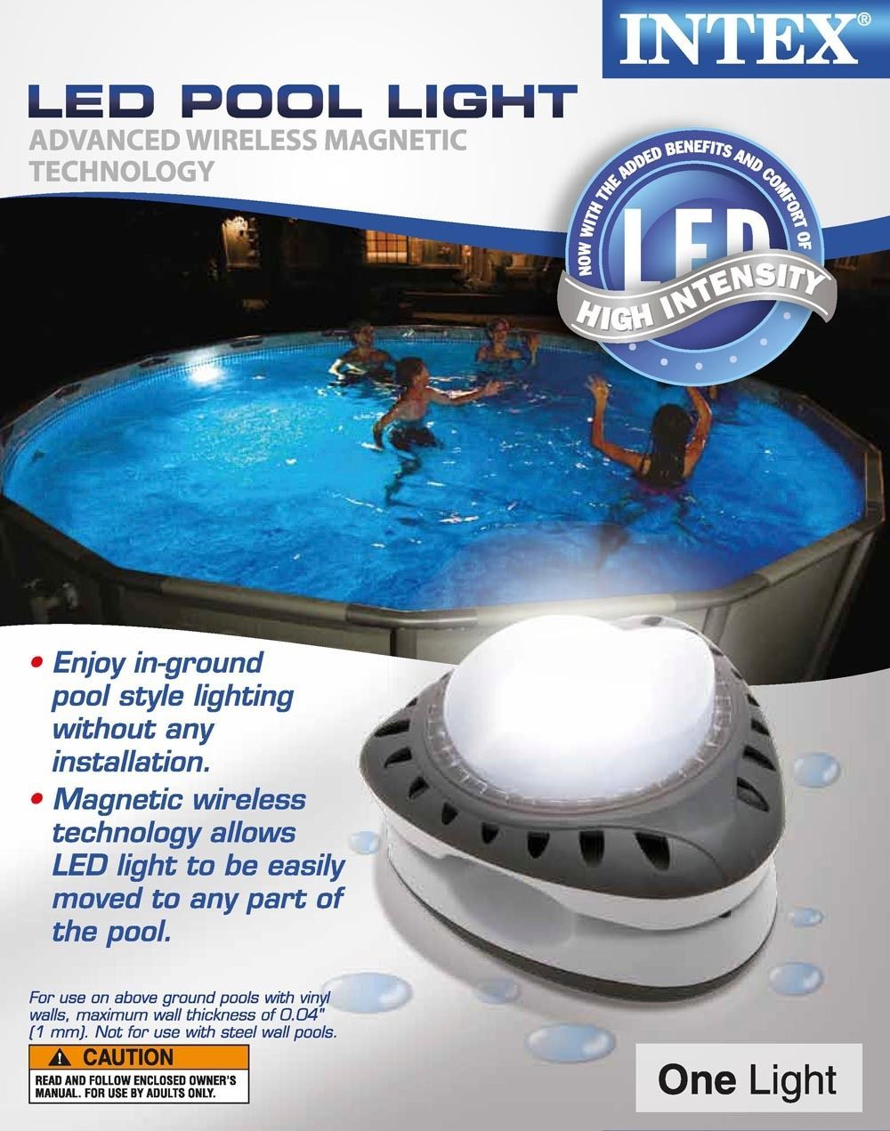 Intex Above Ground Led Magnetic Swimming Pool Light 28687e Swimming Pool Lights Pool Light Above Ground Pool Landscaping