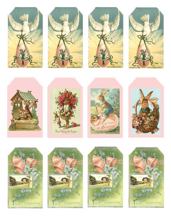 So Shabby Pink Paper Scrapbook Easter 26 Hang Tags