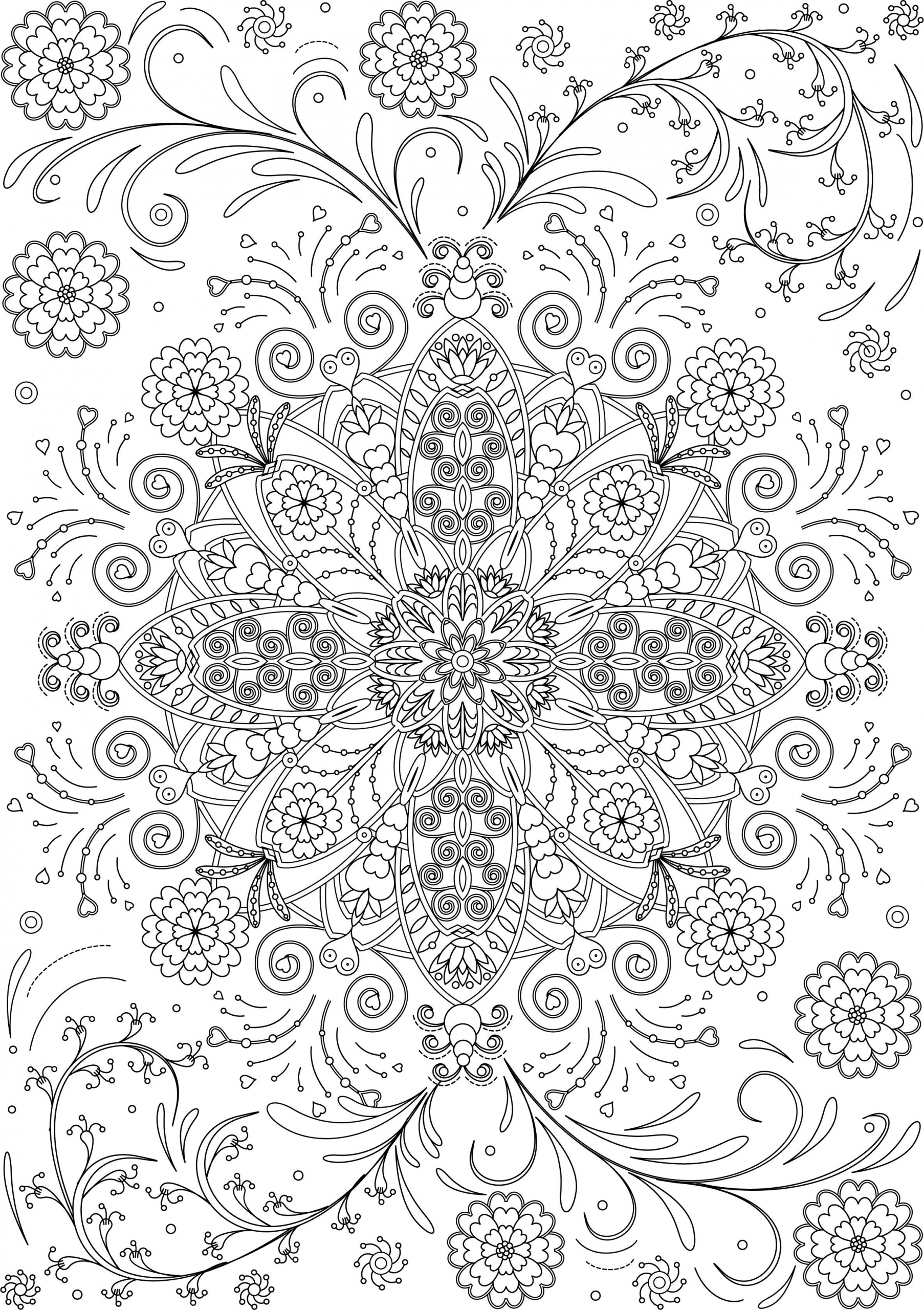 Pin On Flower Coloring Page