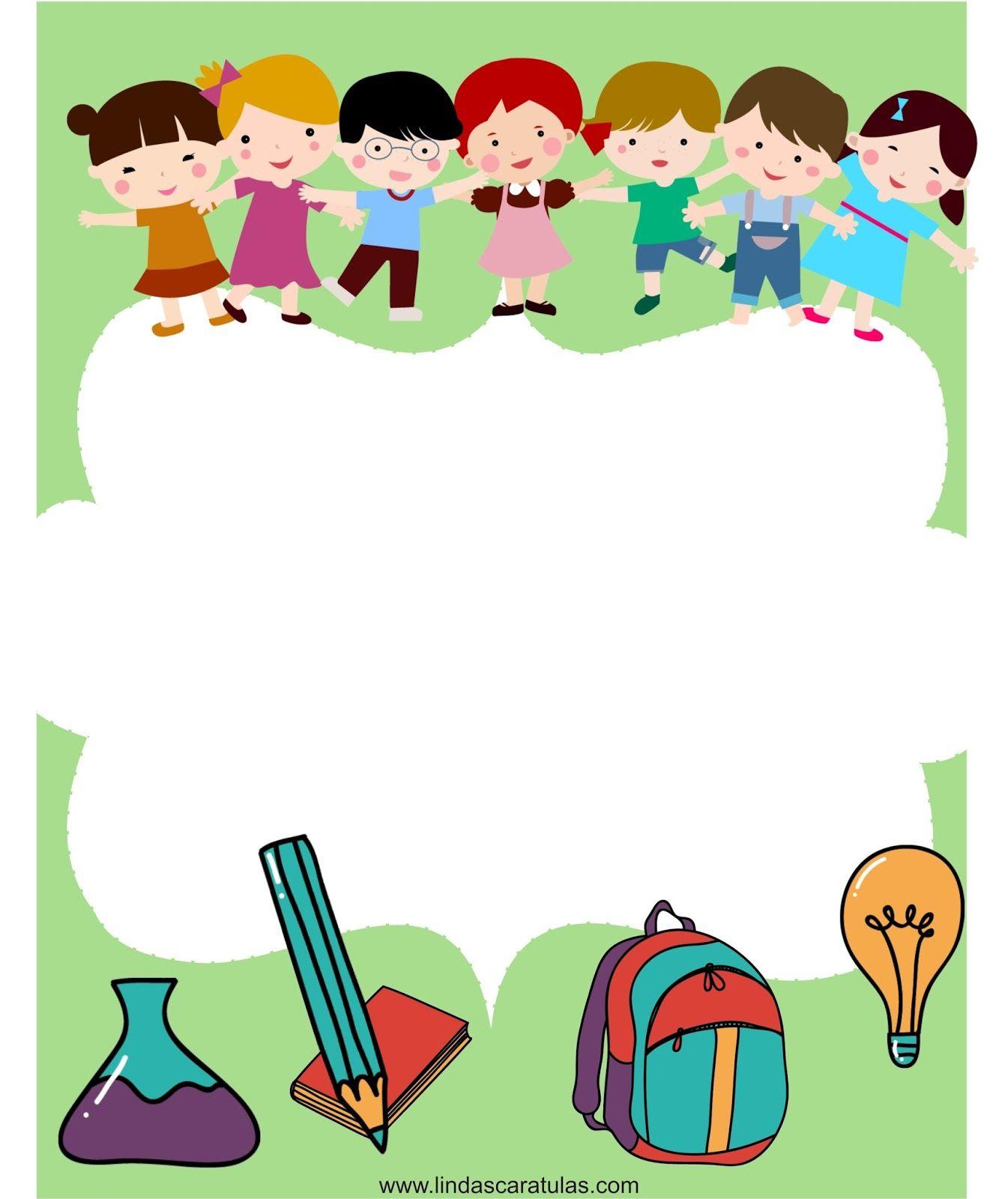 Borders for kid dibujos escuela pinterest marcos for Bordes creativos