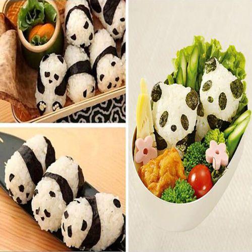 1 set Onigiri Rice Ball Bento Press Maker Mold Triangle Form Mold Sushi Maker CA