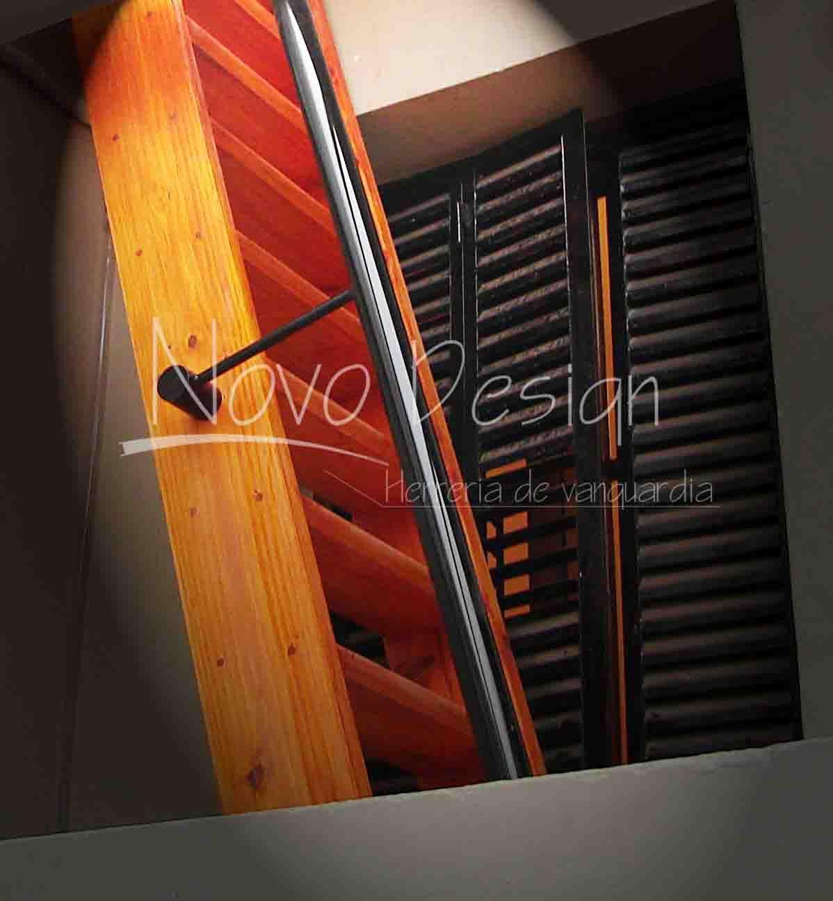 escaleras espacios reducidos madera