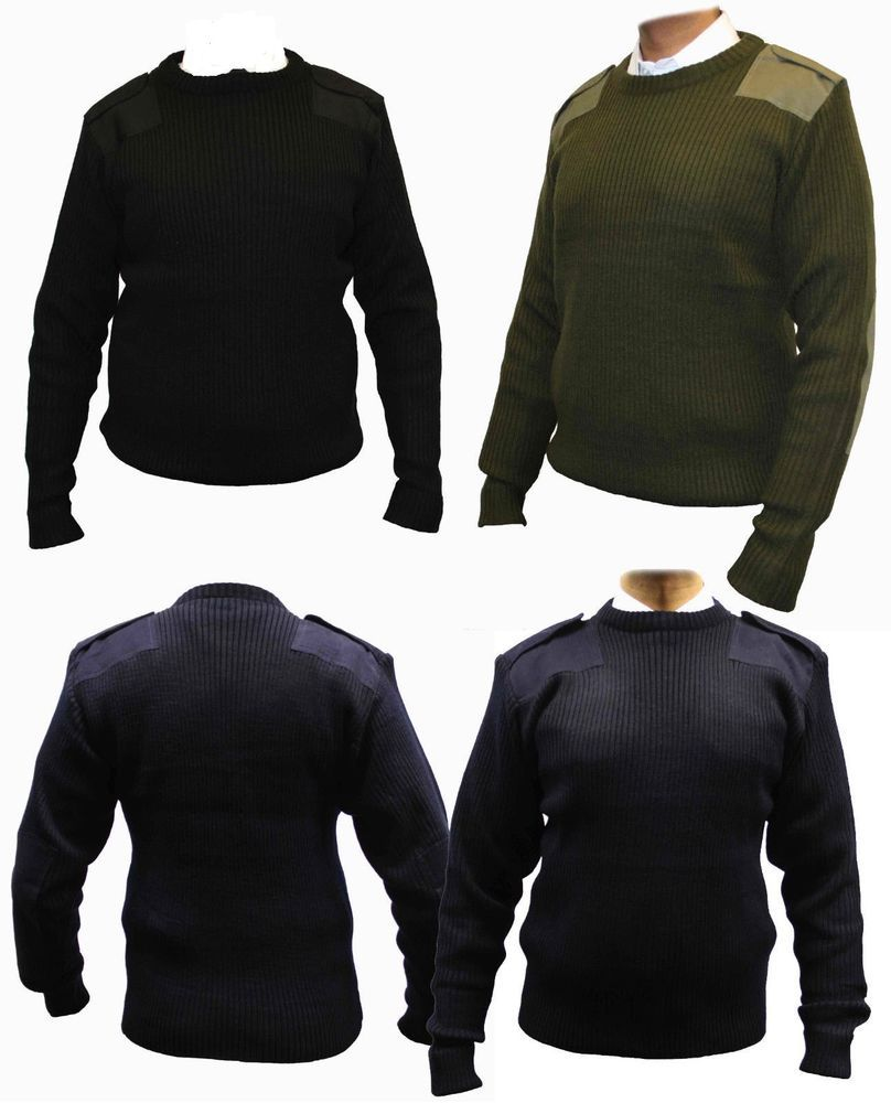 Blue Castle Crew Neck Military Nato Army Security Sweater Pullover Work Jumper