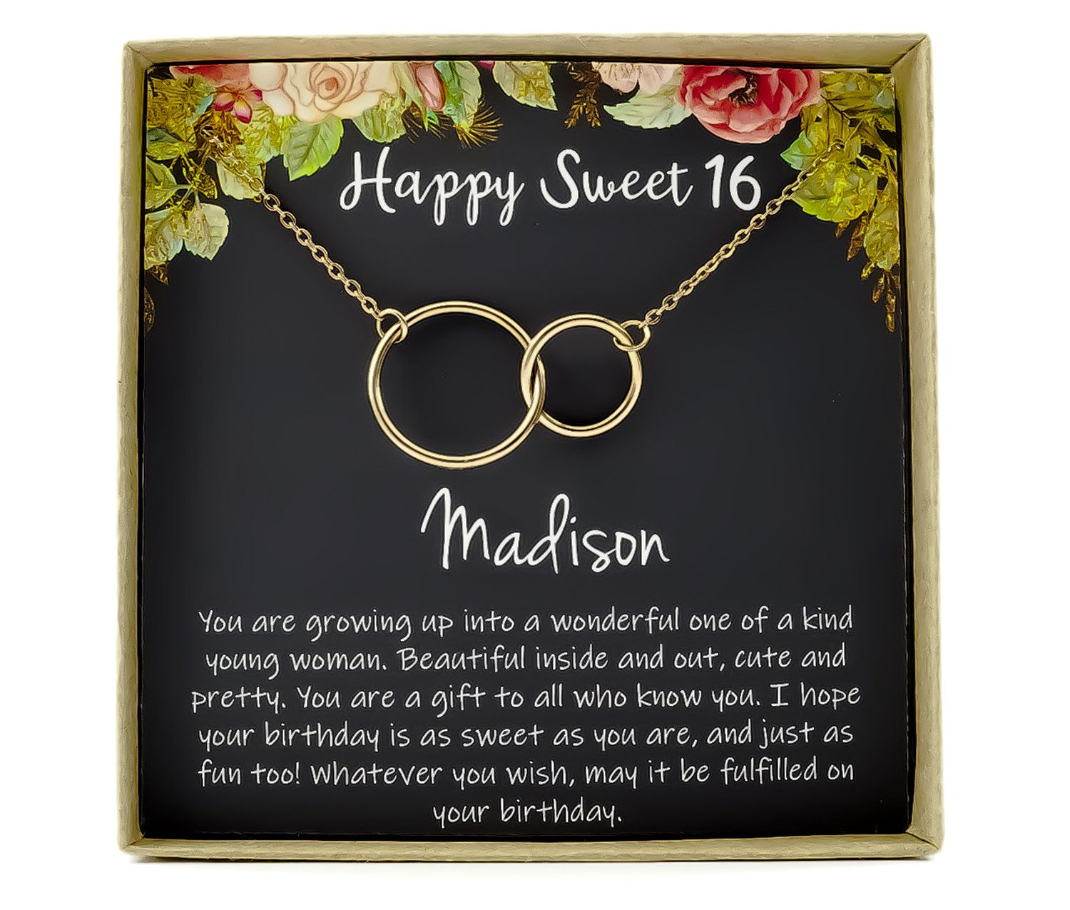 Sweet 16 gift, 16th birthday gift girl Necklace, sweet 16