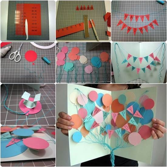 Create a balloon card and banner diy birthday diy ideas diy crafts create a balloon card and banner diy birthday diy ideas diy crafts do it yourself diy solutioingenieria Images