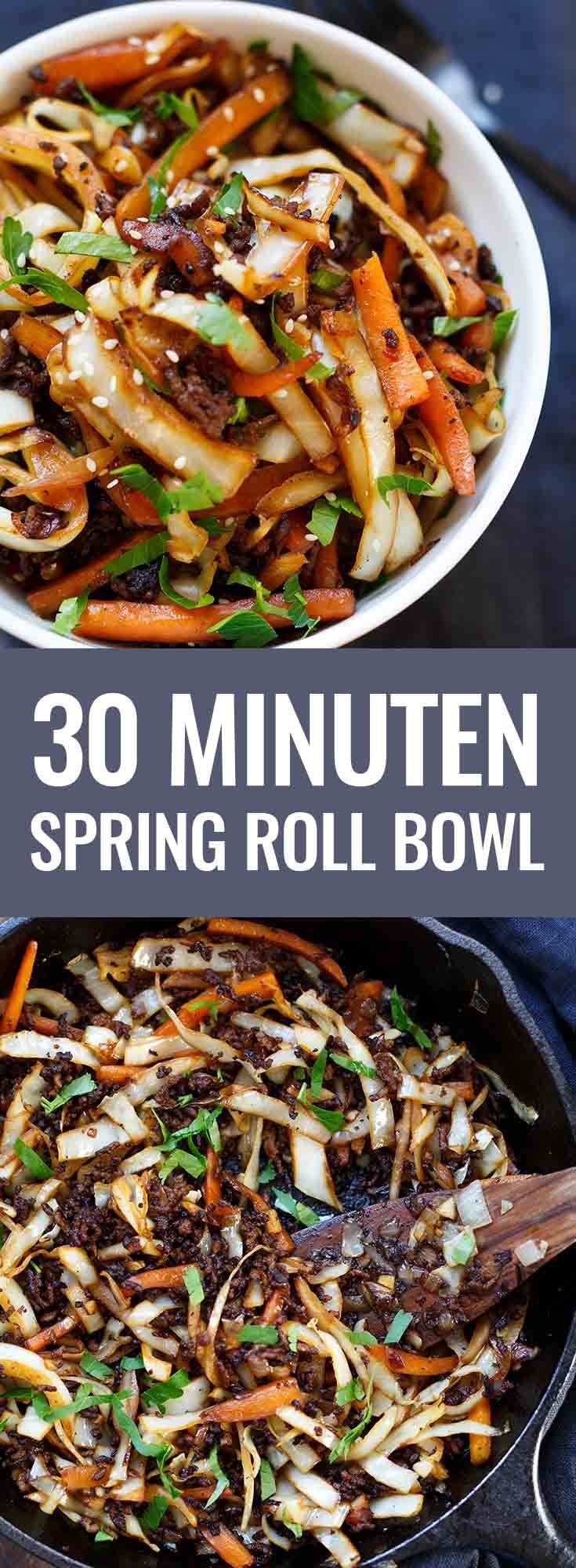Photo of Spring Roll Bowl – Wie Frühlingsrollen zum Löffeln – Kochkarussell
